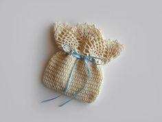 Crochet Pouch - Lace Crochet Bag - Handmade Gift Case - Cream Cotton Pouch - Weddings Favors, Baptisms Favors - 20% Off Sale. $9.50, via Etsy.