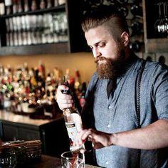Hipster barman