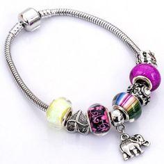 Just US$2.75, buy Flower Elephant Heart Butterfly Bead Bracelet online shopping at GearBest.com Mobile.