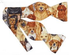 Excited to share the latest addition to my #etsy shop: Adorable Dogs Self-tie Bow Tie | Dog bow ties | Pedigree Dogs | ties with pets | bow ties for men | Animal ties | Beagles | Labs | Terriers http://etsy.me/2EA32Il #accessories #brown #birthday #orange #fathersday #