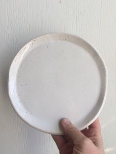 A personal favorite from my Etsy shop https://www.etsy.com/ca/listing/552443576/side-plate-handmade-stoneware-speckled