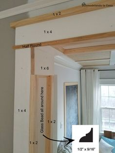 DIY   Doorway Trim   Farmhouse/modern