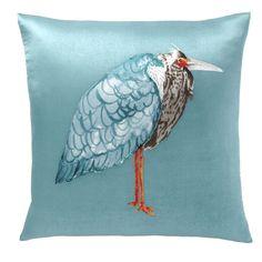 Crane Silk Pillow