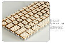 Incrível Engrain, do artista americano Michael Roopenian, um teclado de computador que usa a tatilidade da natureza para fortalecer a relação entre o usuário e a interface.