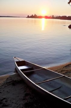Just a canoe, the lake, and all the time in the world to do nothing