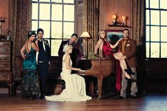 Clue Inspired Wedding Shoot (why didn't I think of this?!?)