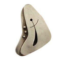 Modernist 1950s Ed Wiener Sterling Silver Ring
