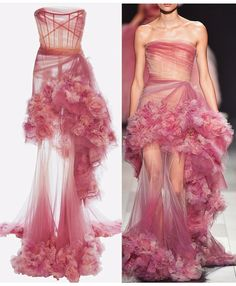 Ruffles and Roses Marchesa dress . Pretty Outfits, Pretty Dresses, Beautiful Dresses, Couture Fashion, Runway Fashion, Fashion Show, Latest Fashion, Marchesa Gowns, Marchesa Fashion