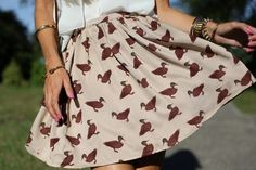 A duck print skirt? It's ridiculous how much I like it. <3