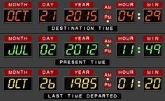El dia que venia en el Delorean de regreso al futuro,es hoy!!No,no se parece ni de coña...jejeje