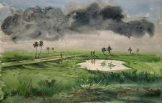rural nature - Creative Art in Painting by charusohel Rana in Portfolio my  water color landscape.......BEAUTIFUL BANGLADESH at Touchtalent