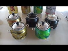 Como fazer panelinha de latinha - YouTube Aluminum Can Crafts, Aluminum Cans, Recycle Cans, Diy Cans, Coke Can Crafts, Physical Activities For Toddlers, Diy Para A Casa, Hand Embroidery Videos, Toy House