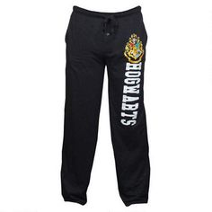 These sweatpants are just the thing to wear when you want to relax at home after a hard day in Potions class and can be used for sleeping and lounging!  Featuring a Hogwarts crest, these heather black sweatpants have an elastic waist and are made of a 60% cotton/40% poly blend fabric.  Please refer to the size chart above, these pajama pants run slightly large.