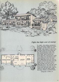 Vintage House Plans, Passive Solar  ~ Great pin! For Oahu architectural design visit http://ownerbuiltdesign.com