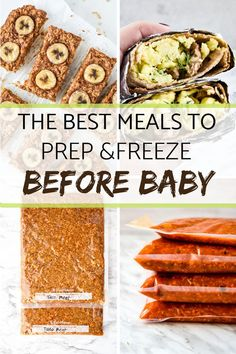 The Best Meals to Prep & Freeze Before Baby - Meal Plan Addi.- The Best Meals to Prep & Freeze Before Baby – Meal Plan Addict - Make Ahead Freezer Meals, Easy Meals, Freezer Cooking, Kid Meals, Best Meals To Freeze, Food To Freeze, Meal Prep Freezer, Cooking Tips, Deep Freeze