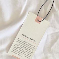 Our hangtags are made with recovered cotton fibers meaning they are completely tree-free.