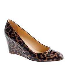 Martina leopard wedges - JCrew.  The darker tones makes them easy to wear as a neutral.