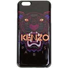 Kenzo Tiger iPhone 6 Plus case ($48) ❤ liked on Polyvore featuring accessories, tech accessories, black and kenzo