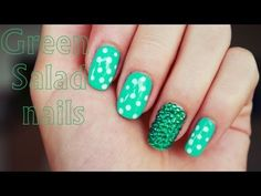 Green Salad nail art design - https://www.avon.com/category/makeup/nails?repid=16581277 https://www.avon.com/category/makeup/nails?repid=16581277  music: Yasmin – Thinking About You (Billon Remix) Products: L.A Colors Base & Top coat BarryM nail paint gelly in Greenberry L'Oreal nail polish in 001 dooting tool green rhinestones Video Rating:  / 5  No tool in nail art to create nail art designs! You can create many cute and easy nail art designs even if you do