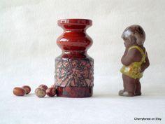 Vintage East germann ceramic vase by Haldensleben by Cherryforest