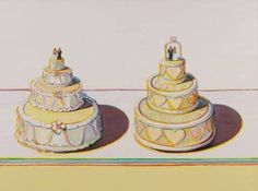 The quintessentially American artist Wayne Thiebaud is now 96 years old, and this impressive exhibition shows an array of his still lifes, portraits and landscapes from across the seven decades of his career Wayne Thiebaud Paintings, Wayne Thiebaud Cakes, New York 2017, Franz Kline, Willem De Kooning, Magical Wedding, Second Weddings, Universal Studios, American Artists
