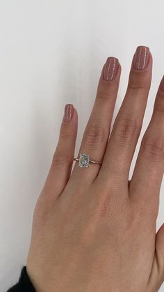 Stunning two tone emerald cut diamond engagement ring. White gold prongs and a thin yellow gold band Emerald Cut Diamond Engagement Ring, Dream Engagement Rings, Emerald Cut Diamonds, Engagement Ring Cuts, Diamond Rings, Diamond Cuts, Cushion Cut Engagement, Pink Diamonds, Solitaire Engagement
