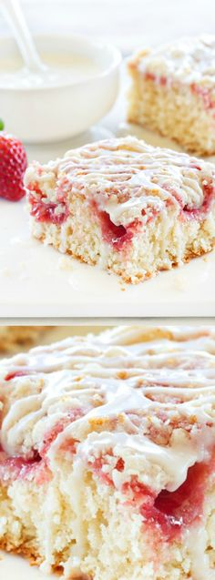 This Strawberry Rhubarb Coffee Cake recipe from My Baking Addiction combines some of your favorite flavors into an irresistible snack cake or a sweet treat for your family!