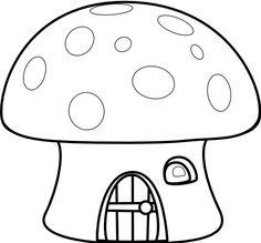 lemmling Mushroom house black white line art Scalable Vector Graphics SVG  SVG
