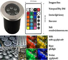 Smart RGB 6 w Wireless remote control underground light from Dongguan simu hardware lighting co,ltd. Auto change color or RF remote control color change or infrared control Smart color change or Wifi control or DMX Control led outdoor lighting