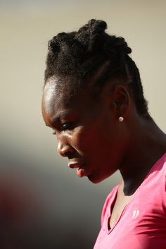 Venus Williams of the United States of America looks on during her women's singles match against Urszula Radwanska of Poland on day one of the French Open at Roland Garros on May 26, 2013 in Paris, France.