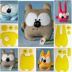 Thanksgiving Crafts and Ideas for Kids Felt Crafts, Fabric Crafts, Sewing Crafts, Sewing Projects, Fabric Toys Diy, Sewing Stuffed Animals, Stuffed Animal Patterns, Diy Cat Toys, Fabric Animals