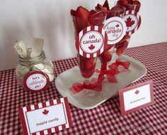 Canada Day Party Printables Collection by MarleyDesign on Etsy, Canadian Party, Canada Day Crafts, Canada Day Party, Going Away Parties, Canada Holiday, Canada 150, Party Themes, Party Ideas, Party Printables