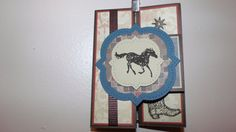 Cowboy Theme Trifold Shutter Card Any Occasion by MadebyMarmee, $10.00