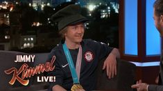 Youngest Snowboarding Champion Red Gerard on Winning Olympic Gold Red Gerard, Snowboarding, Skiing, Jimmy Kimmel Live, Make You Smile, Olympics, Captain Hat, Champion, Sports