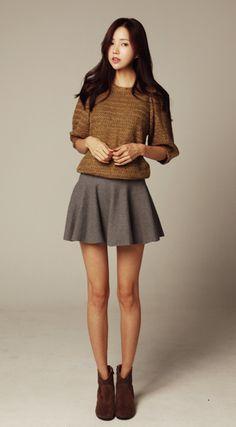 Cute sweater and skirt {fall fashion}