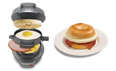 Hamilton Beach breakfast sandwich maker coming late March. Have a hot breakfast in less than 5 minutes.