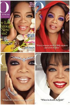 O magazine October 2014 with four special covers.