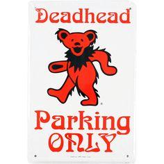 Grateful Dead Bear Deadhead Parking Only Sign Liquid Blue