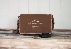 Messenger Bag  Let the Adventure Begin  by BucktoothedBunny