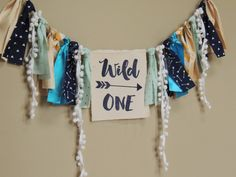 Wild One Birthday Banner Black and Gold Tribal Aztec Cake Smash Photo Prop Wild Ones Fabric Bunting First Birthday Boy by JadeandJo on Etsy