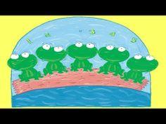 Five Little Speckled Frogs - Children Love to Sing & Dance Action Kids Songs Kindergarten Songs, Preschool Songs, Spring Songs For Kids, Kids Video Songs, 5 Little Speckled Frogs, Counting Songs, Action Songs, Frog Theme, Spring Activities