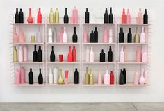 Such an easy way to make a cluster of themed bottles - different shapes and colors that blend well together