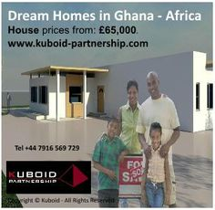 Build your Dream Home: 3-Bedroom House design for Ghana, Africa property market. Tel: +44 7916 569 729,   Email: admin@kuboid-partnership.com,   www.kuboid-partnership.com