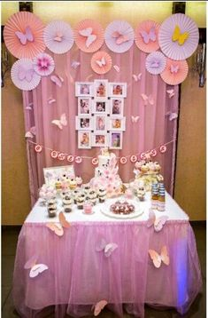 Fresh ideas for your Princess Birthday Party Ideas Anyone can make Butterfly 1st Birthday, Butterfly Party Decorations, 1st Birthday Party For Girls, Butterfly Birthday Party, Butterfly Baby Shower, Princess Birthday, Birthday Party Decorations, Baby Shower Decorations, Fairy Birthday