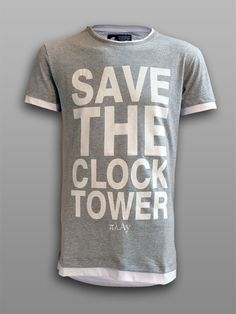 Save the Clock Tower  #πλAy #play #playshirts #play_shirts #save #the #clock #tower #bttf #back #to #future #tribute #tshirt #tshirts #tee #printed #letters #cotton #121 #gigawatts #pop #movie #80s
