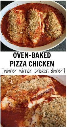 From marinara sauce to mozzarella cheese and pepperoni, if your family loves the flavors found in most pizza pies, then baked pizza chicken is a must-try!y when i was very young we called this Italian chicken. Fish Recipes, Whole Food Recipes, Chicken Recipes, Cooking Recipes, Chicken Meals, Pizza Recipes, Cooking Ideas, Cake Ingredients, Baked Chicken