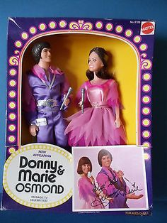 Vintage-1970s-Mattel-DONNY-and-MARIE-and-JIMMY-OSMOND-Dolls-NRFB