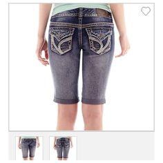7aebe51b1a963 Ariya Curvy Junior s Bermuda Jean Shorts Blue Size 7 8-NWT S