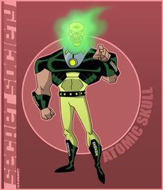 Atomic Skull by on DeviantArt Justice League Villain, Wonder Twins, Man Hunter, Zombie Dolls, Justice League Unlimited, Comic Villains, Blue Beetle, Dc Heroes, Ghost Rider
