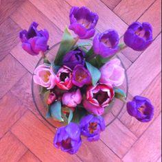 Prachtige vaas Tulpen!